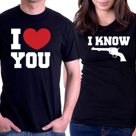 Couples t shirt - I LOVE YOU, I KNOW 3
