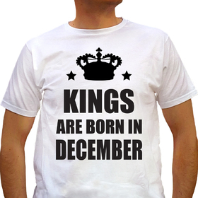 Kings are born in December - white