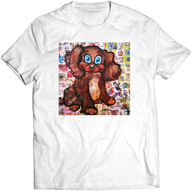Printed t-shirt - Happy Puppy
