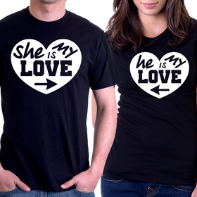 Couples t shirt - She is my love, He is my love 3