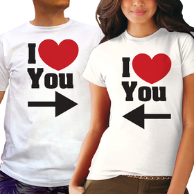 Couples t shirt - I LOVE YOU 6