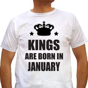 Kings are born in January - white