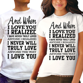 Couples t shirts - When I Love you