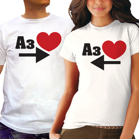 Couples t shirt - I LOVE YOU 4