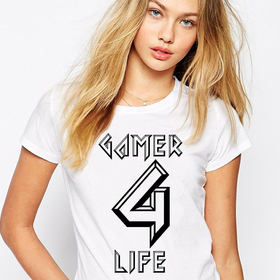 Gamer for life - lady white