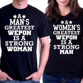 Couples t shirts - Our greatest weapon 2