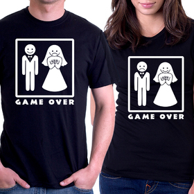 Couples t shirt - Game Over