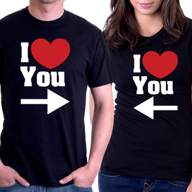 Couples t shirt - I LOVE YOU 5
