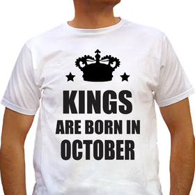 Kings are born in October - white