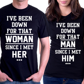 Couples t shirt - I`ve been down 2